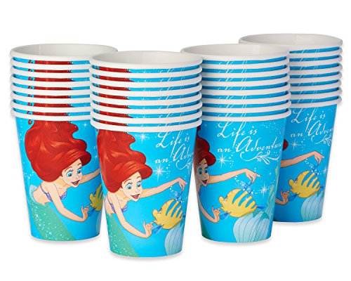 riel 9-Oz 9, Paper Cups, 32-Count (Little Mermaid 9 Oz Cups)