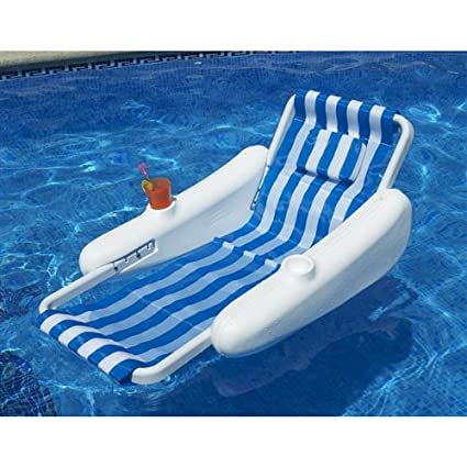 SunChaser Sling Floating Swimming Pool Lounge Chair