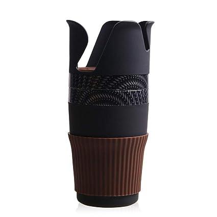 AOLVO Portavasos Soporte para Bebidas de Coche Universal, Sostenedor Bebidas Coche Gira 360 Grados Multifunción