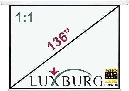 Luxburg® Pantalla de proyección 244 x 244 cm (Diagonal aprox. 136 ...