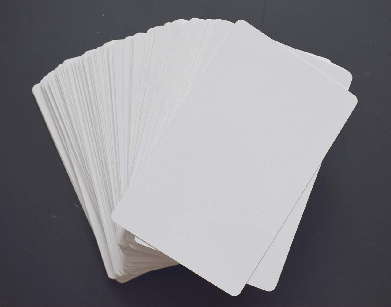 100pcs Sublimation Metal Business Cards Laser Engraved Metal Business Cards Sublimation Blanks 3.4x2.1in Thicknes (0.30mm) (White) by world-paper (Image #2)