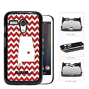 Alabama State Girl With Heart And Chevron Hard Plastic Snap On Cell Phone Case Motorola Moto G