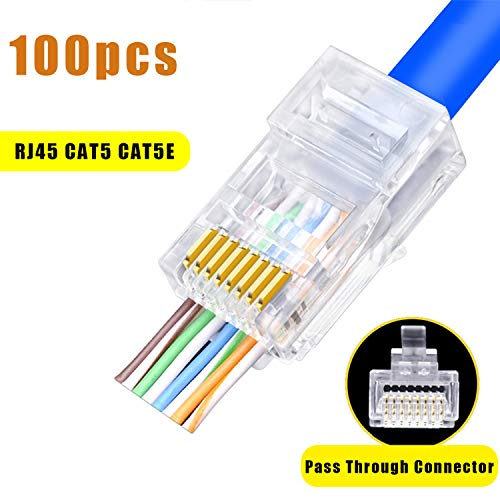 20 pc RJ45 Cat5E SHIELDED Connector 50 micron 3 prong