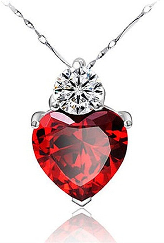 Amazon tyjewelry 14k gold plated crystal heart shape pendant amazon tyjewelry 14k gold plated crystal heart shape pendant necklaces for women red 18 jewelry aloadofball Gallery
