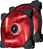 Corsair Air Series SP 140 Led Red High Static Pressure Fan Cooling-Twin Pack (Co-9050034-WW)