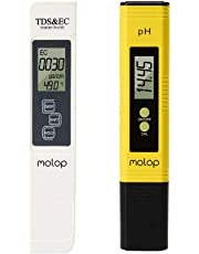 Digital PH Meter and TDS Meter Water Quality Tester Auto Calibration Ideal kit for Aquarium Swimming Pool Drinking water Molop