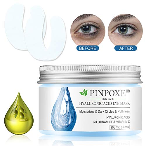 51OrDHzJUVL - Eye Treatment Masks,Under Eye Patches, Anti-Aging Mask, with Hyaluronic Acid, Hydrogel, Deep Moisturizing Improves elasticity, Treatment Pads for Dark Circles, Wrinkles, Eye Bag Removal, 50 PCS