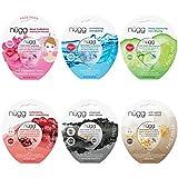 Cleansing Oil Emulsifier - nügg Face Mask Combo Pack of 6 Gel Face Masks; for all Skin Types