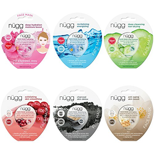 nügg Face Mask Combo Pack of 6 Gel Face Masks; for all Skin ()