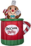 Gemmy 5' Hot Cocoa Mug & Gingerbread Christmas Inflatable Scene