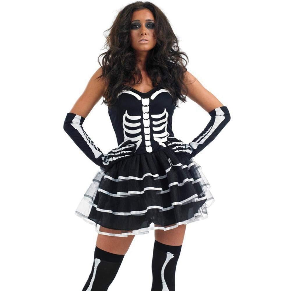 Woman M TUWEN Halloween Ghost Festival Horror Festival Performance Costume Ghost Cloak Cloak Skull Sickle Ghost Costume Vampire Couple Outfit