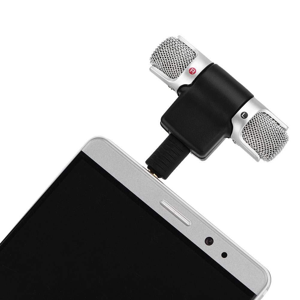 Hakeeta Mini Microfono Stereo per Smartphhones Microfono Flessibile a condensatore direzionale Microfono a Pendolo con Spina Dorata da 3,5 mm