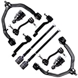 SCITOO 10pcs Suspension Kit 2 Inner 2 Outer Tie Rod End 2 Lower Ball Joint 2 Sway Bar End Link 2 Upper Control Arm + Ball Joint fit for 1993-1998 Lincoln Mark VIII K8781 K8782