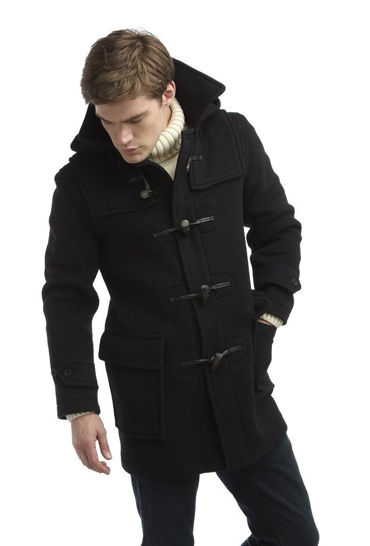 Mens London Duffle Coat Navy: Amazon.co.uk: Clothing