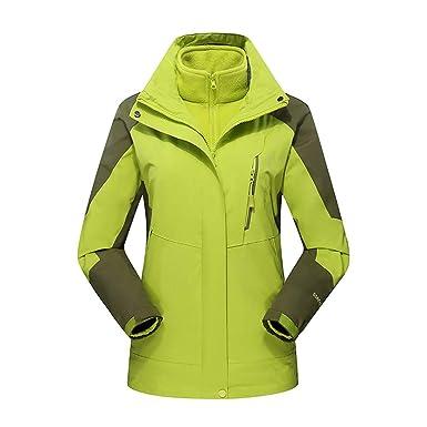 Damen Winter Draussen Outfit Zwei Stück DREI Im EIN Wasserdicht  Atmungsaktiv Mantel b4e39ba1d0