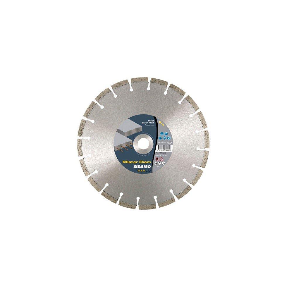 Sidamo–Diamant-Trennscheibe Mister Durchmesser D.350x 25,4–20x 10x EPH. 2,8mm–Beton/Stahlbeton/Materialien–11102094