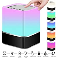 Night Light Bluetooth Speaker, Vanhua Touch Sensor Bedside Lamp Wireless Speaker with Lights for Kids, Party, Bedroom, Camping