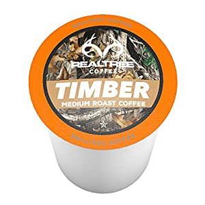 Realtree Timber Single-Cup Coffee for Keurig K-Cup Brewers 40 Count