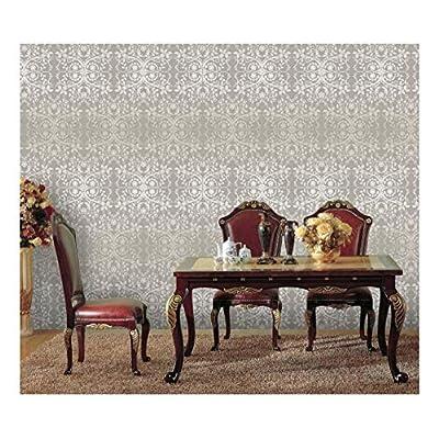 Large Wall Mural - Damask Seamless Floral Pattern | Self-Adhesive Vinyl Wallpaper/Removable Modern Decorating Wall Art - 66
