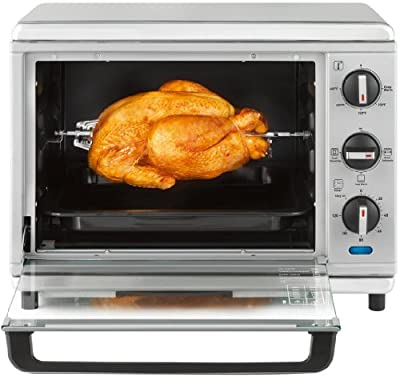 T-fal OT274E Stainless Steel Convection and Rotisserie Toaster Oven, Silver by T-fal