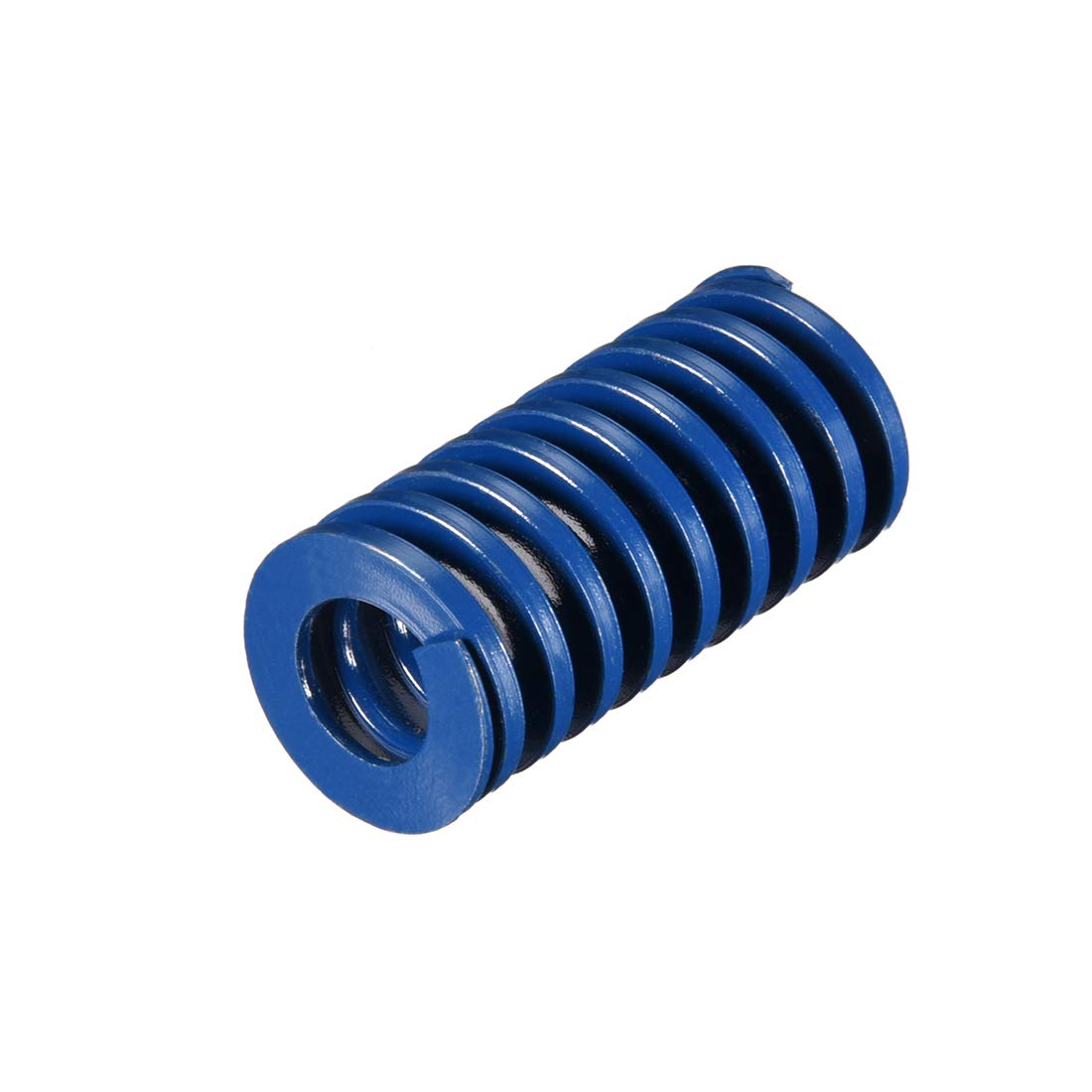 sourcing map 20mm OD 50mm Long Spiral Stamping Light Load Compression Mould Die Spring Blue 1Pcs