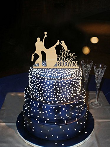 Amazon funny wedding cake toppers drunk bride and groom with funny wedding cake toppers drunk bride and groom with dog rustic personalized mr and mrs wedding junglespirit Image collections