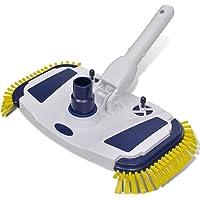vidaXL Swimming Pool Vacuum Head Cleaner Brush Sweep Broom Side Brushes Cleaning Robot Above Ground Maintenance Kit…
