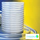 Tygon E-3603 Non-DEHP Laboratory, Food & Beverage and Vacuum Plastic Tubing, Clear, 1/16