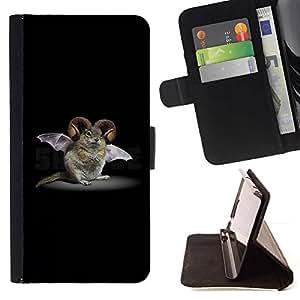 Momo Phone Case / Flip Funda de Cuero Case Cover - Roedor Bat Cuernos de ficción Criatura Biotecnología - HTC One Mini 2 M8 MINI