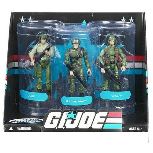 G.I. Joe Exclusive Senior Ranking Officers Action Figure 3-Pack Duke, GI Joe Hawk & Grunt -
