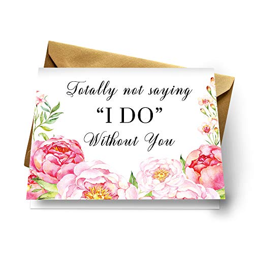 8 Floral Be My Bridesmaid Cards Bride Asking Maid of Honor, Wedding Party Proposal ()