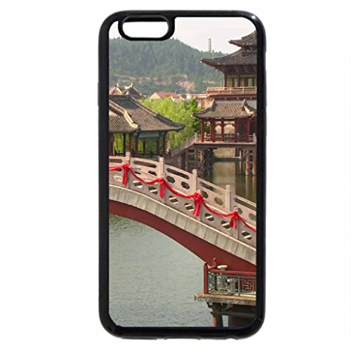 iPhone 6S / iPhone 6 Case (Black) bridge in a chinese park