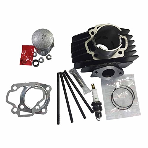 Pee Wee Race - 50 Caliber Racing 60cc Big Bore Top End Rebuild Overhaul Kit For Yamaha Y-zinger Pee Wee PW50 and Yamahopper QT50 Pit Bikes - [4449B]