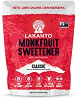 Lakanto Monkfruit Sweetener, 1:1 Sugar Substitute, Keto, Non-GMO