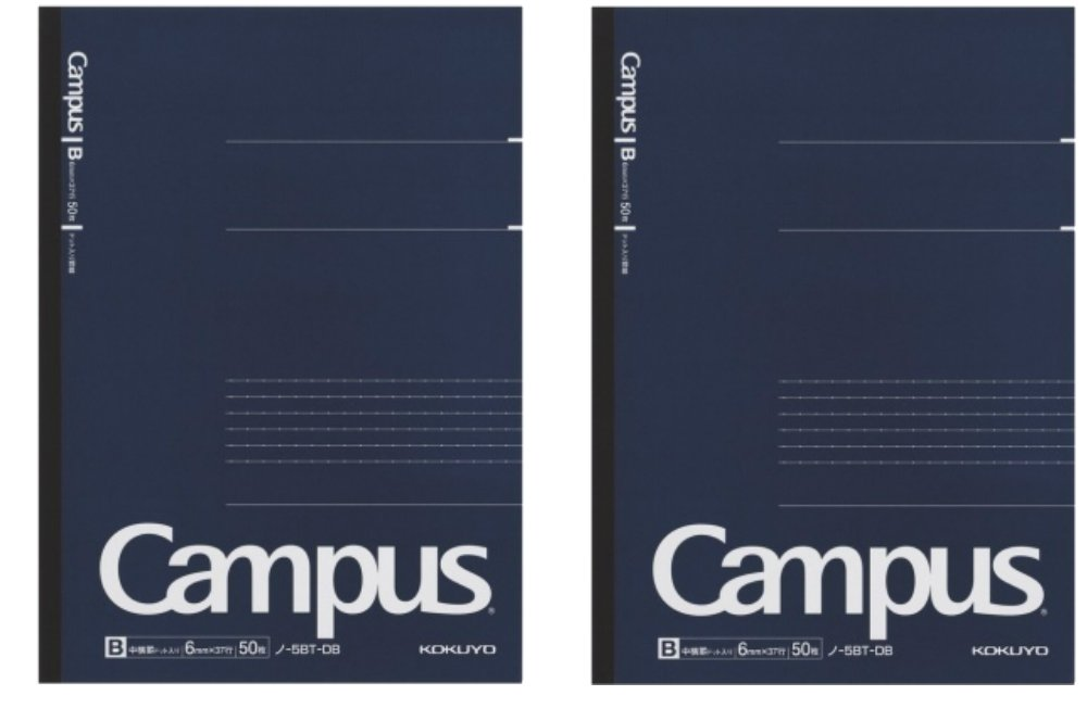 Kokuyo Campus Pre-Dotted Notebook, B5-Dotted 6 mm Rule - 30 Lines X 50 Sheets - 100 Pages, Pack of 2 Dark Blue