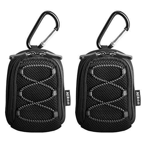 2 Pack of Nikon All Weather Sport Case with Carabiner (13080)