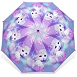 Unique Design Cat Parasol Umbrella 3 Folding Child Women Rain Umbrella Girl Lovely Animal Paraguas Gift