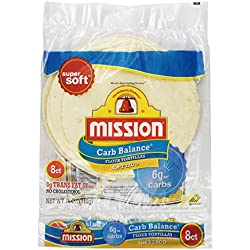 Mission, Flour Tortilla - Low Carb -Soft Taco, 8 ct, 12 oz