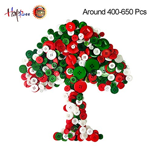 Happlee Favorite Findings Basic Buttons in Assorted Colors & Sizes, Round Resin Buttons for Sewing,Art & Crafts Projects DIY Decoration for Christmas and More (Kindergarten Art Lesson Halloween)