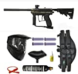 Spyder MR100 Pro Paintball Marker Gun 3Skull 4+1 9oz Mega Set - Olive