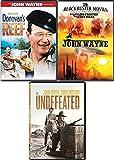 4 War & Western John Wayne Films Donovan's Reef + Undefeated & Lawless Frontier / Lucky Texan Feature DVD Movie bundle