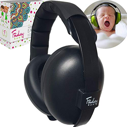 affordable Fridaybaby Baby Ear Protection (0-2+ Years) - Comfortable and Adjustable Noise Cancelling Baby Ear Muffs for Infants  Newborns | Baby Headphones Noise Reduction for Airplanes Fireworks Concert, Black