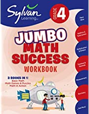 4th Grade Jumbo Math Success Workbook: 3 Books in 1 --Basic Math; Math Games and Puzzles; Math in Action; Activities, Exercises, and Tips to Help Catch Up, Keep Up, and Get Ahead