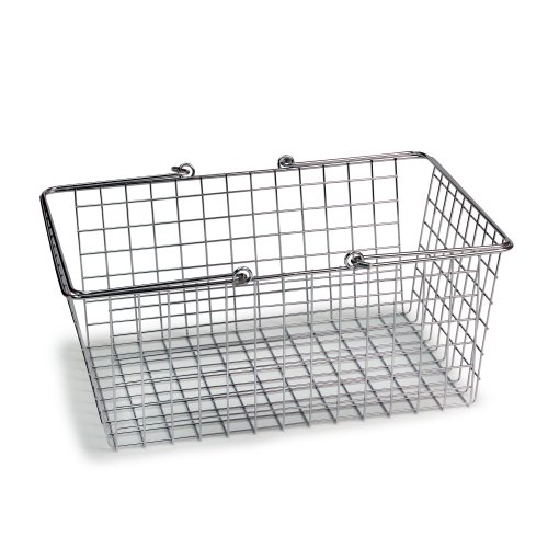 Spectrum Diversified Wire Storage Basket, Large, Chrome (Chrome Wire Basket)
