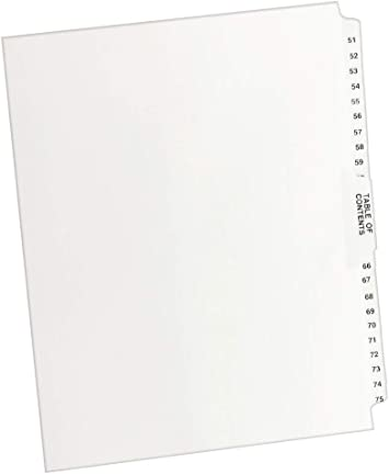 Avery-Style Legal Exhibit Side Tab Dividers AVE01414