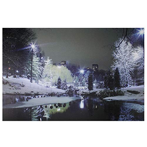 Cityscape LED Winter Snow Scene Picture