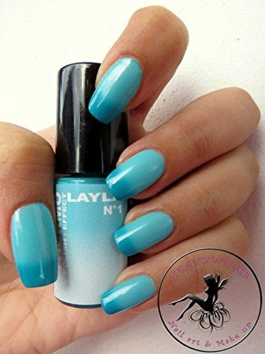 - THERMO EFFECT COLOR CHANGING NAIL POLISH by LAYLA - DARK TO LIGHT BLUE by Layla