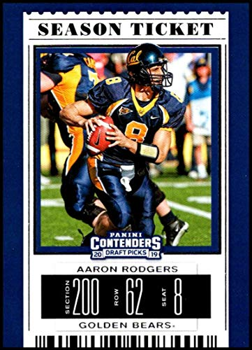 2019 Panini Contenders Draft Picks Season Ticket #2 Aaron Rodgers Cal Golden Bears Official Collegiate Football Card of the NFL -