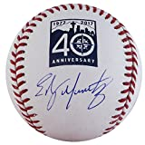 Edgar Martinez Autographed Official Major League Baseball Seattle Mariners 40th Anniversary Logo MCS Holo Stock #126619