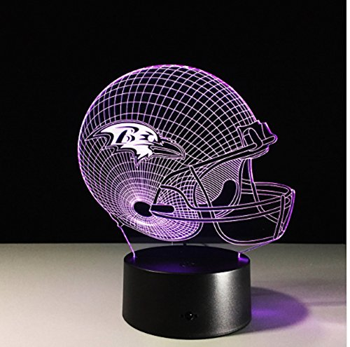 Football Helmet Light - Touch Control Football Helmet Light- Upgraded Color Changing Touch Light - Night Light for Boys Men Women - Perfect Gift for Football Sports Lovers (Baltimore -